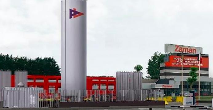 Tankterminal nv opent vandaag in Lokeren het eerste bemande LNG-tankstation voor trucks in België.